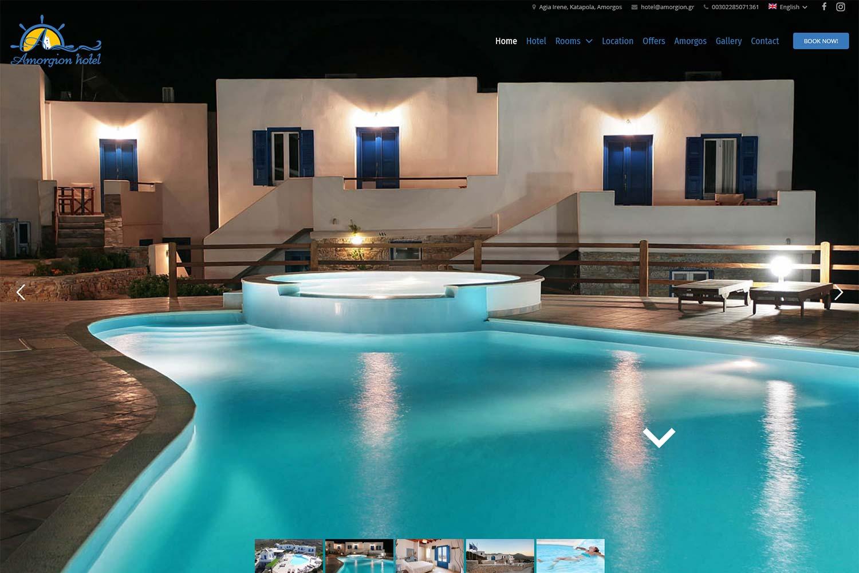 DNt Solutions - Amorgion Hotel Website